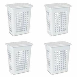 12238004 rectangular lifttop laundry hamper white 4