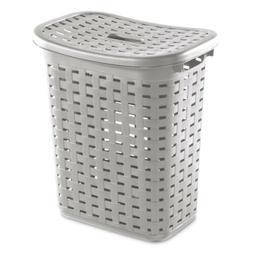 Sterilite 12766A04 Weave Laundry Hamper, Cement, Case of 4