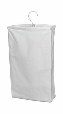 Home Essentials 148 Doorknob Laundry Bag White Canvas-Patent