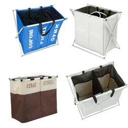 2/3 Section Large Foldable  Laundry Hamper Washing Clothes B