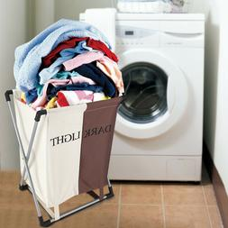 2 Lattice Laundry Basket Dirty Clothes Bin Sorter Bag Hamper