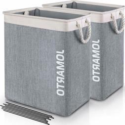 2 Pack Laundry Basket with Handles for Laundry Hamper Collap