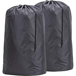 2 Pack Nylon Laundry Bag Travel Drawstring Bag Rip-Stop Larg