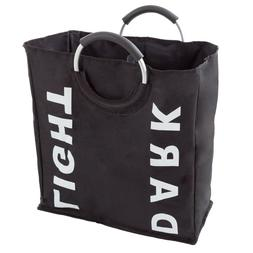 2 Sided Laundry Hamper for Lights and Darks Collapsible Canv