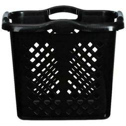 Home Logic 2Bushel Lamper Black Plastic Laundry Basket Tall