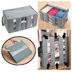 3 Sections Basket Hamper for Laundry Foldable Wash Bag Cloth