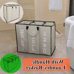 3 Sorter Laundry Hamper Dirty Clothes Storage Basket Bin Org