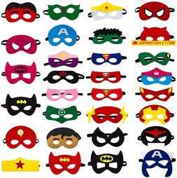 30Pcs Superhero Felt Masks For Kids Party Cosplay Superhero