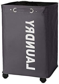 WENKO 3450112100 Laundry bin Quadro Grey - laundry basket, c