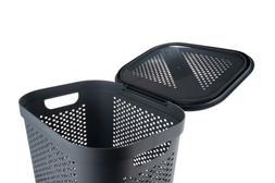 Mind Reader 60 Liter 16 Gallon Perforated Plastic Laundry Ha