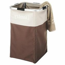 Whitmor 6205-2465-JAVA Java Square Laundry Hamper Brown