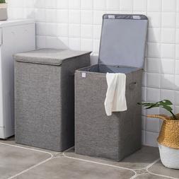 65L/100L Foldable Laundry Basket Washing Clothes Hamper Home