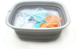SAMMART 9.45L  Collapsible Tub - Foldable Dish Tub - Portabl