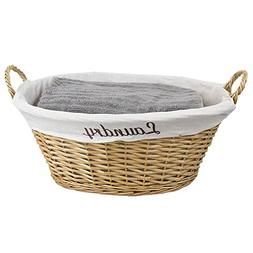 Home Basics Wicker Laundry Basket