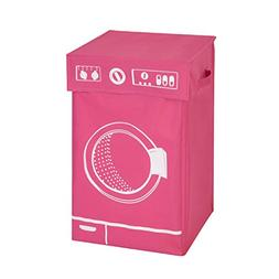 Honey-Can-Do HMP-04287 Washer Graphic Hamper, Pink, 14 by 23