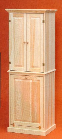 AMISH Unfinished Pine ~  LAUNDRY ROOM Shelf STORAGE Pantry C