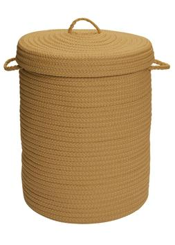 At Home Indoor Outdoor Braided Round Hamper, H187 Topaz ~ Ma