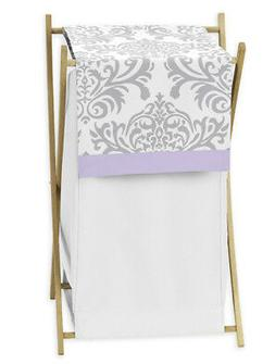 Sweet Jojo Designs Baby Kids Clothes Laundry Hamper Purple G