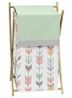 Sweet Jojo Baby Clothes Laundry Hamper Coral Woodland Arrow