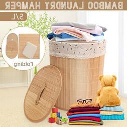 Bamboo Laundry Hamper Basket Clothes Storage Liner Bag Sorte