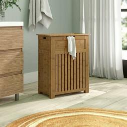 Bamboo Laundry Hamper Bathroom Storage Cabinet Bedroom Cloth