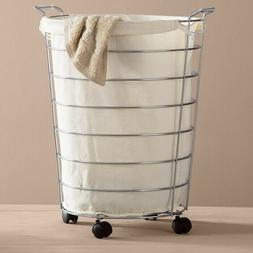 Basics Rolling Laundry Hamper