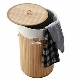 Bathroom Laundry Hamper Basket Wicker Clothes Storage Bag So