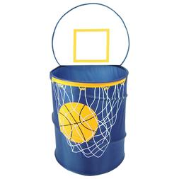 Blue Basketball Hoop Hamper Home Living Kids Dorm Room Bedro