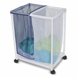 Homz Blue/White Duramesh Nylon Laundry Sorter