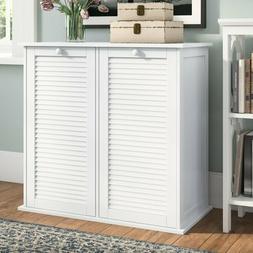 Cabinet Laundry Hamper Liner Basket Sorter Bathroom Wooden S