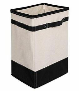 BirdRock Home Canvas Hamper | Single Laundry Basket with Han