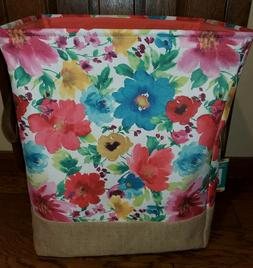 The Pioneer Woman Canvas Large Laundry Hamper Breezy Blossom