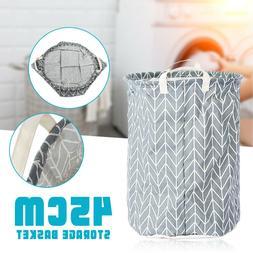 Canvas Laundry Basket Bin Storage Washing Clothes Hamper Box