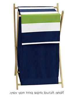 Children Kids Teen Clothes Laundry Hamper for Navy and Lime