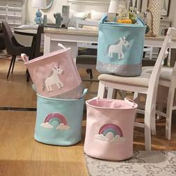 Collapsible Cotton Laundry Hamper Cute Design Storage Bin La