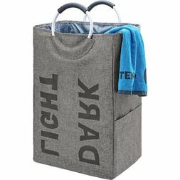 HOMEST Double Laundry Hamper Bag with Handle Easily Transpor