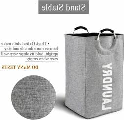 Collapsible Fabric Laundry Hamper Foldable Clothes Bag Washi