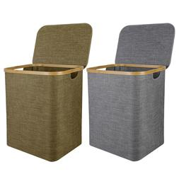 Collapsible Laundry Basket Linen Hamper Storage Bin Home Org