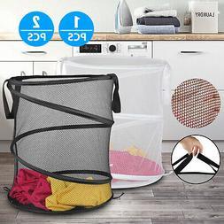 Collapsible Mesh Pop Up Laundry Clothes Hamper Basket - Bath