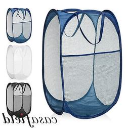 Collapsible Mesh Pop Up Laundry Clothes Hamper Basket - Bath