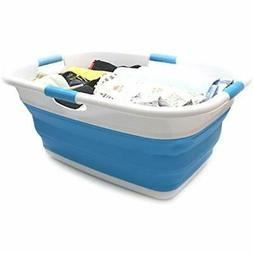 Collapsible PopUp Laundry Hampers 4 Handled Basket - Foldabl