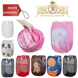 College Kid Mesh Pop Up Laundry Hamper Tidy Clothes Toys Was