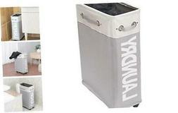 comfortez Slim Rolling Laundry Hamper Foldable Laundry Baske