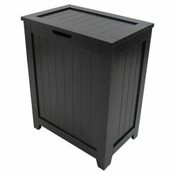 Redmon Contemporary Country Laundry Hamper, Black