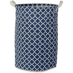 DII Cotton/Polyester Round Laundry Hamper or Basket, Perfect