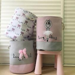 Cute Foldable Laundry Dirty Clothes Basket Toy Storage Bag H