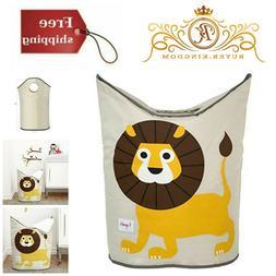 Cute Lion Laundry Hamper, Baby Clothes Basket Bin, Storage O