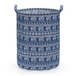 Cylinder Round Single Fabric Plastic Frame Laundry Basket Ha