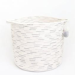 Laundry and Storage Cotton Rope Basket for Laundry, Toys, Ba