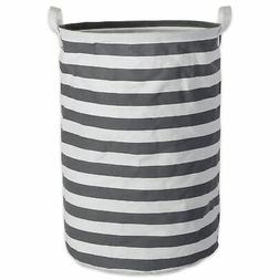 Design Imports DII Pe Coated Cotton/Poly Laundry Hamper Stri